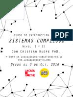 Curso de Introducción a Los Sistemas Complejos Nivel I y II
