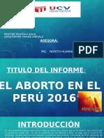ABORTO EN EL PE´RU 2016