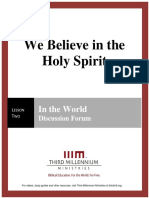 We Believe in the Holy Spirit – Lesson 2 – Forum Transcript