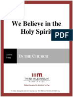 We Believe in the Holy Spirit – Lesson 3 – Transcript