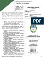 Constitución de La Nación Argentina - Wikipedia, La Enciclopedia Libre