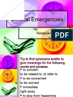 Medical Emergencies Vocabulary
