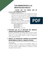 Derecho Administrativo y La Administración Publica