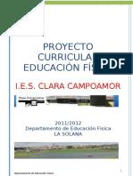 Proyecto Curricular Educación Fisica