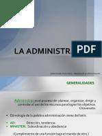 La Administración en la Organizacion de Empresas