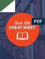 Book Title Cheat Sheet