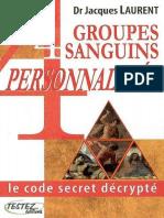 4 groupes sanguins, 4 personnalités - Le code secret décrypté - Testez.pdf