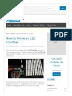 How to Make an LED Scrollbar