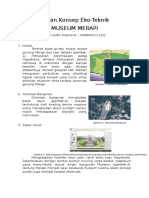 Kajian Konsep Eko- Teknik Museum Merapi