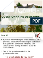 Issues- Questionnaire Designing