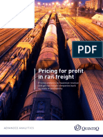 Solution Paper Pricing for Profit in Rail Freight En
