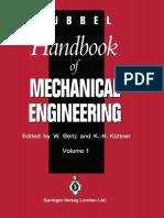 Dubbel-Handbook of Mechanical Engineering