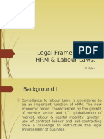 Legal Framework of HRM & Labour Laws.