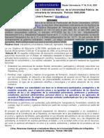 Lílido Ramírez_Cifras, Relaciones Numéricas e Indicadores Macros de La Universidad Pública 1990-2006