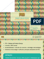 Apresentação PSS - Product-Service System