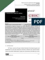 L'Intersectionnalité en Débat.