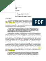Relazione Su Particolare Aspetto Didattica