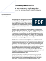 How Mobile Device Management Works