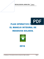 Plan Operativo 2016 Janina EIRL.