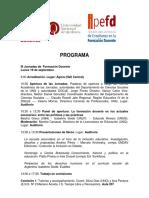 Programa Definitivo Jornadas Formación Docente y Prácticas de Enseñanza 19 y 20 Septiembre