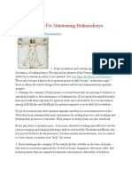 Twelve Pointers for Maintaining Brahmacharya