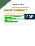 Methodologie de Recherche