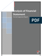 Analysis of Financial Statement Sample Assignment Solution
