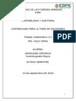Trabajo Colaborativo Grupal 2.2 Cuestionario Capitulo 6