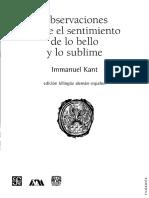 Kant, Immanuel - Observaciones Sobre El Sentimiento de Lo Bello y Lo Sublime (OCR)