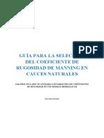 eBook Guia de Seleccion Coeficiente Rugosidad Manning