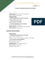 Horarios y Tarifas 2015