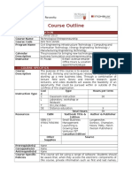 Course Outline Summer 2013