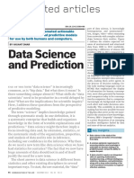 Data Science and Predictions