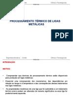 Aula 16 - Processamento Termico Ligas Metalicas