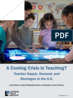 A Coming Crisis in Teaching (Learning Policy Institute)