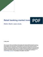 Metro Bank Case Study