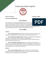 english iii syllabus