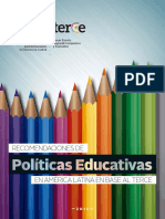 Recomendaciones Politicas Educativas TERCE