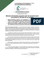 Nota- Ministro José Hernández Presenta Plan de Medidas Para Los Primeros 100 Días de Gestión en El Sector Agrario