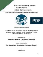Seguridad Industrial de Cahuana Zavala, Pamela
