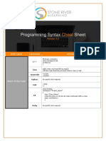 Programming Syntax Cheat Sheet v 2.2