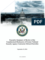 Hpsci Snowden Review - Unclass Summary - Final