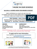 help keep music in our schools flyer