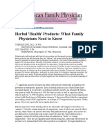Herbal - What Family Physicians Need to Know