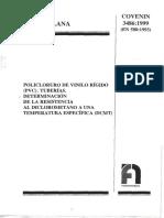 3486-99 Test de Diclorometano en Tuberias de PVC