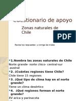 """Cuestionario """"Zonas naturales de chile"""""""