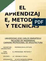 Aprendizaje, Metodos y Tecnicas