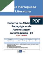 Lingua Portuguesa Regular Aluno Autoregulada 6a 1b
