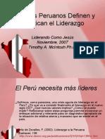 Como los Peruanos definen y pratican el liderazgo.ppt