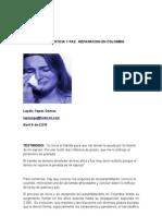 e.ley de Justicia y Paz, Reparacion en Colombia 2